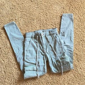 Green Skinny Cargo Pants